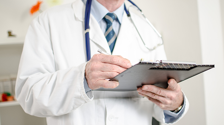 Doctor with checklist