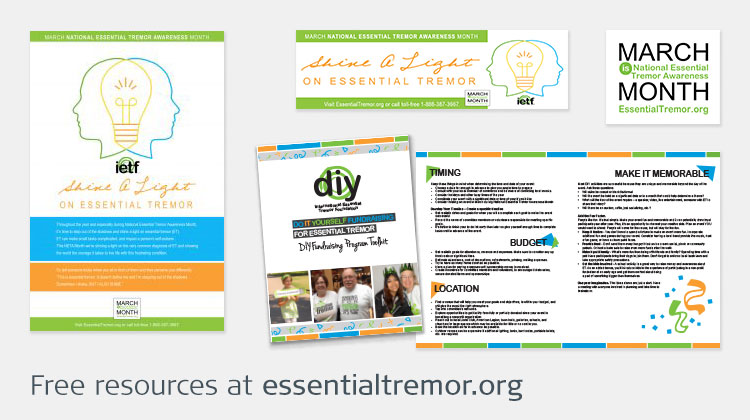 Collage of resources from essentialtremor.org